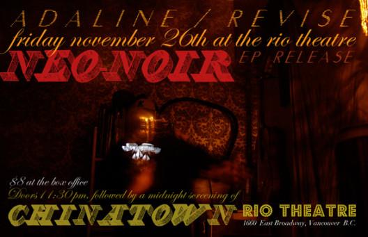 Adaline & Revise Neo-Noir CD Release
