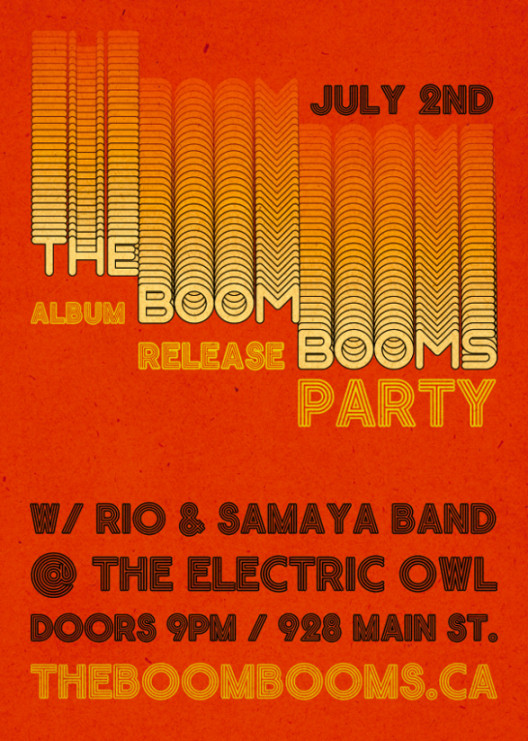 The Boom Booms CD Release Party Poster