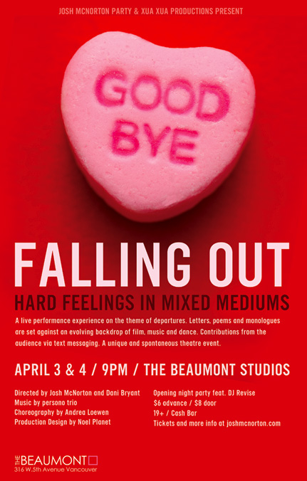 Falling Out: Hard Feelings in Mixed Mediums
